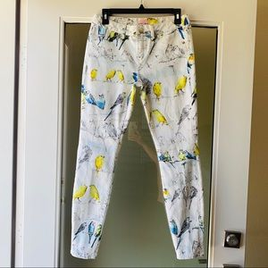 Ted Baker London Jeans - Ted Baker Canary Print Jeans Size 28